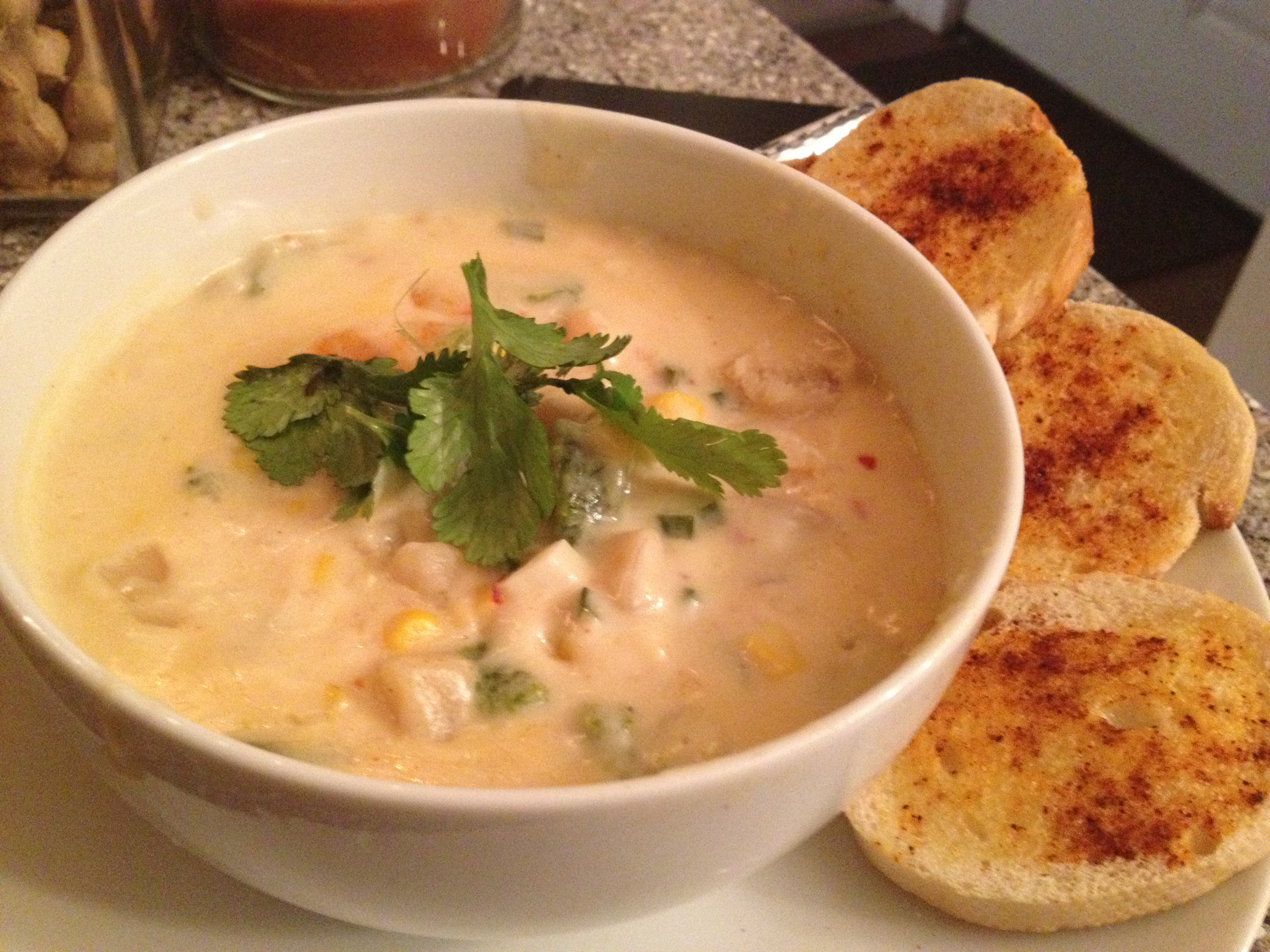 Roasted Shrimp and Poblano Corn Chowder (a variation of D-Pop's ...